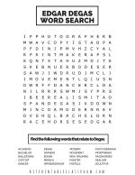 degas crossword PDF