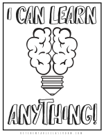 growth mindset printable coloring sheet 6