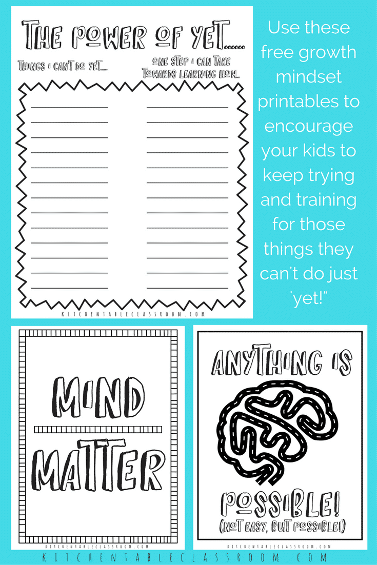 growth mindset printable coloring sheets collage 1 tiny - The ...
