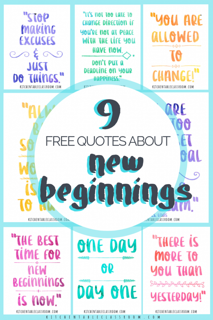 Quotes About New Beginnings Encouragement For Big And Little Fresh