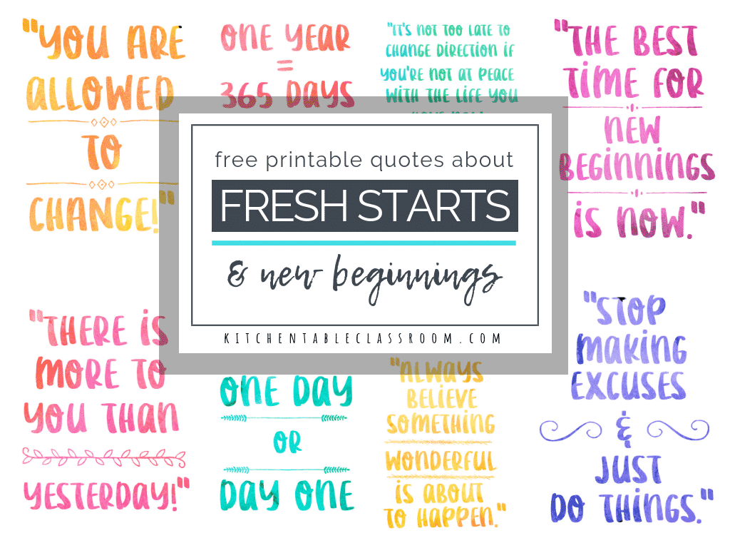Check out this collection of pretty quotes about new beginnings to remind yourself of the possibilities of each day! New beginning quotes for a new outlook!