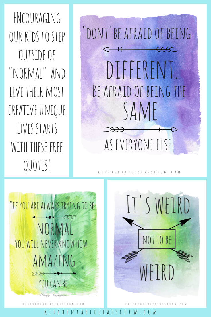 Being Different Quotes About Being Unique Collage 2 The Kitchen