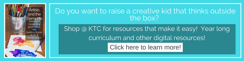 Shop at KTC for year long visual art curriculum that makes art class easy and tons of digital resources to print at home!