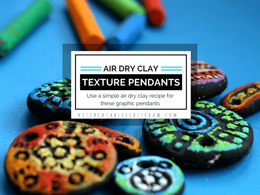 Textured Clay Pendant- with Homemade Air Dry Clay - The Kitchen ...