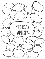 WHO IS AN ARTIST student printable png 1