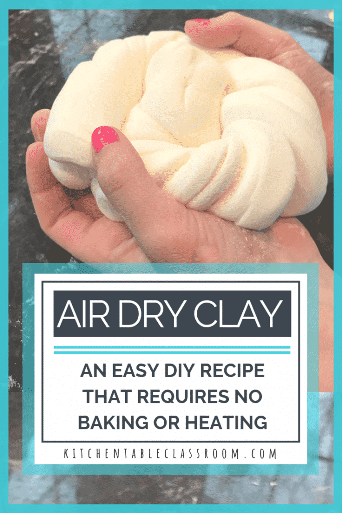 Use this easy DIY clay recipe to learn how to make air dry clay for kid's crafts. Household ingredients are all you need- no cooking or baking required!