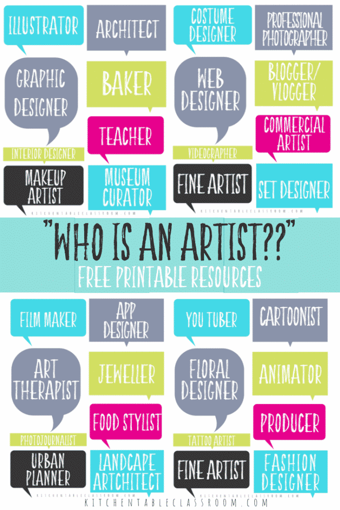 Jobs in the arts are as varied as you can imagine. Use these free printables to encourage your kids to explore career opportunities as creative as they are. Free graphic organizers and printable bulletin board displays help you start the conversation about jobs in the arts!