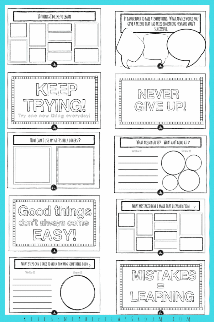 Growth Mindset Resources -Complete Collection of Printables - The ...