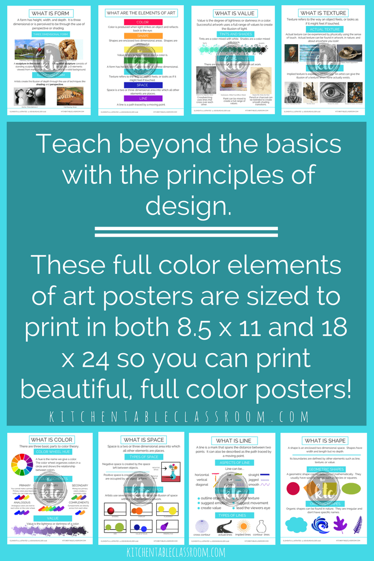 Principles Illustrated Principles of Design Printable worksheets and ...
