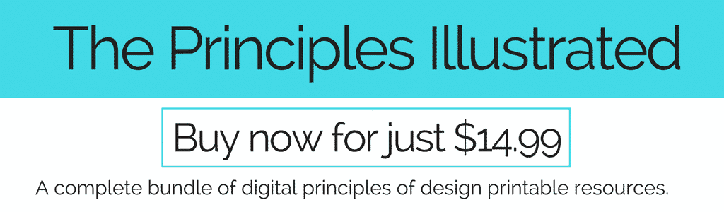The Principles Illustrated is a huge bundle of digital resources to help you teach the principles of design the easy, no prep way. Principles of design posters, printable principles of design books and vocabulary worksheets are included in this bundle!