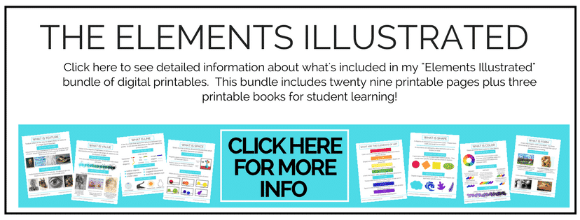The Elements Illustrated is a huge bundle of printable resources to help making teaching art easy!