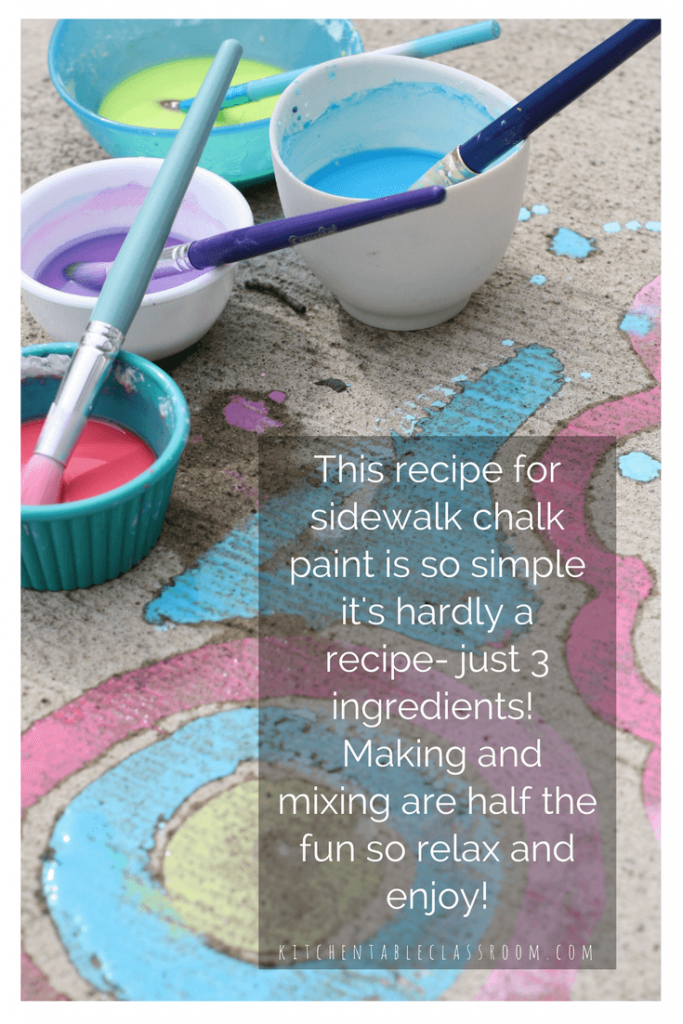 How To Make Sidewalk Chalk With Food Coloring