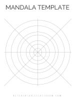 Mandala template png