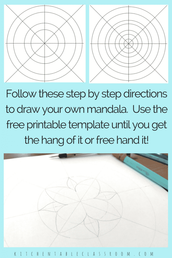 Mandalas for Kids- with Printable Mandala Template - The ...