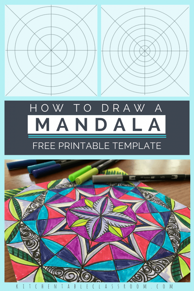 Mandalas for Kids- with Printable Mandala Template - The Kitchen