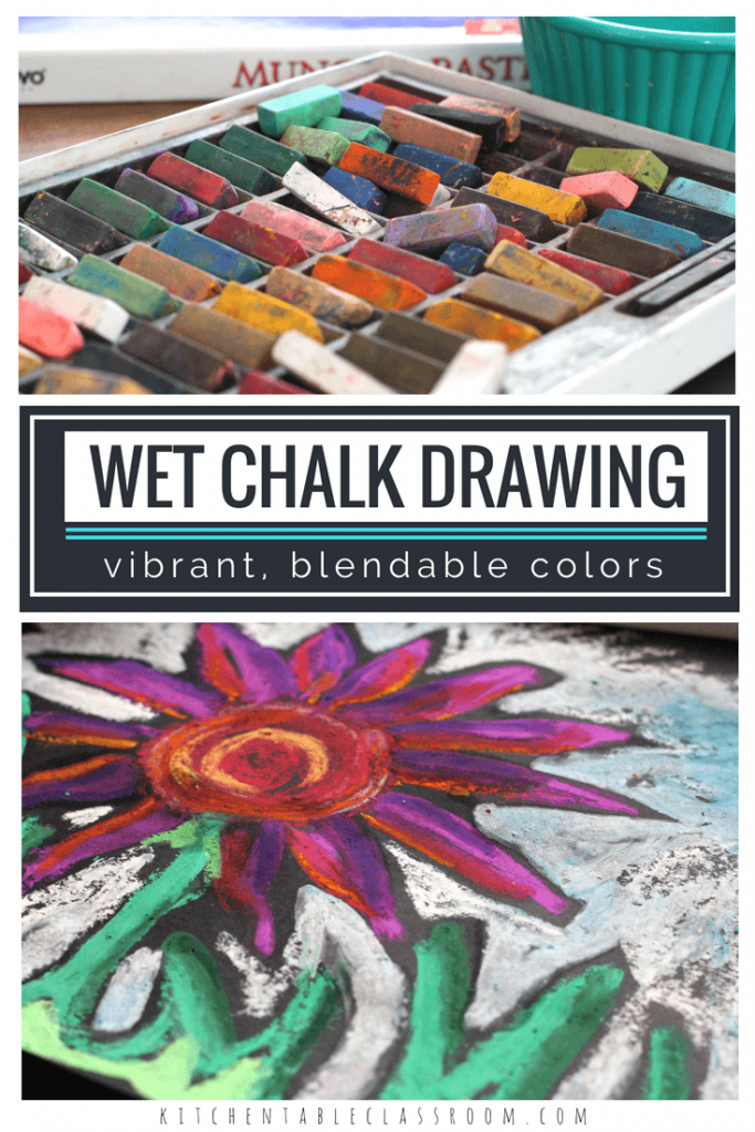 This wet chalk technique adds a new dimension of layering & blending colors to this drawing lesson. Add color to a still life, landscape or process art.