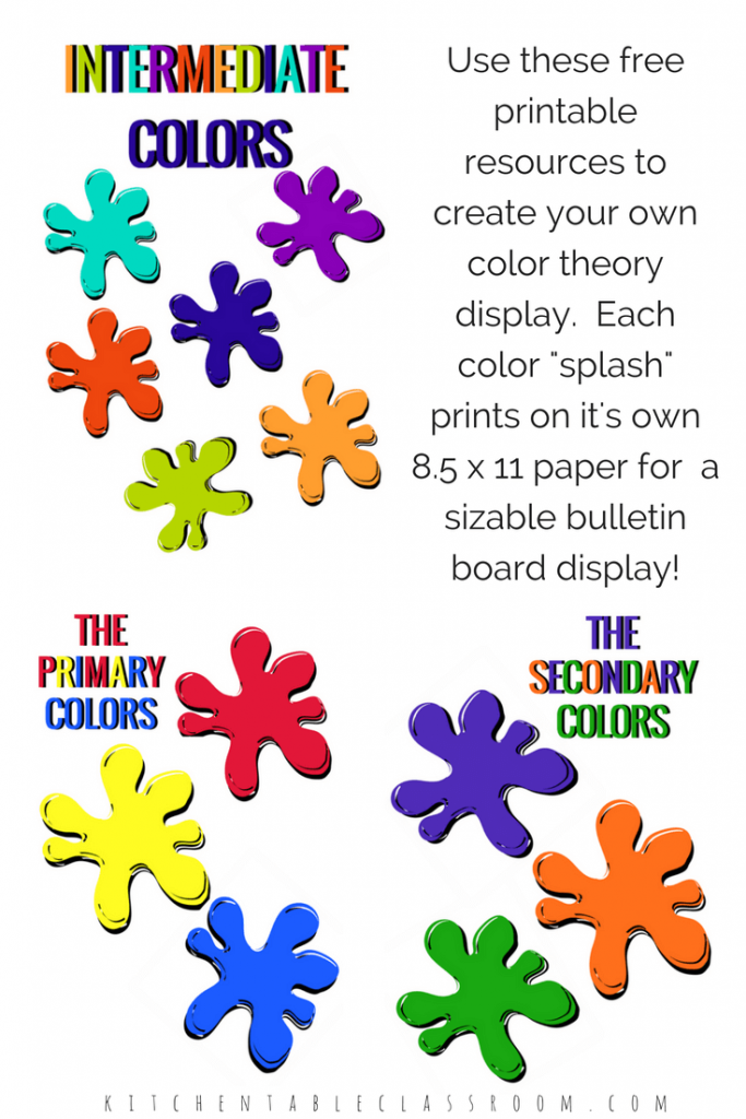 picture relating to Printable Colors known as Coaching Shades- Free of charge Printable Bulletin Board Present