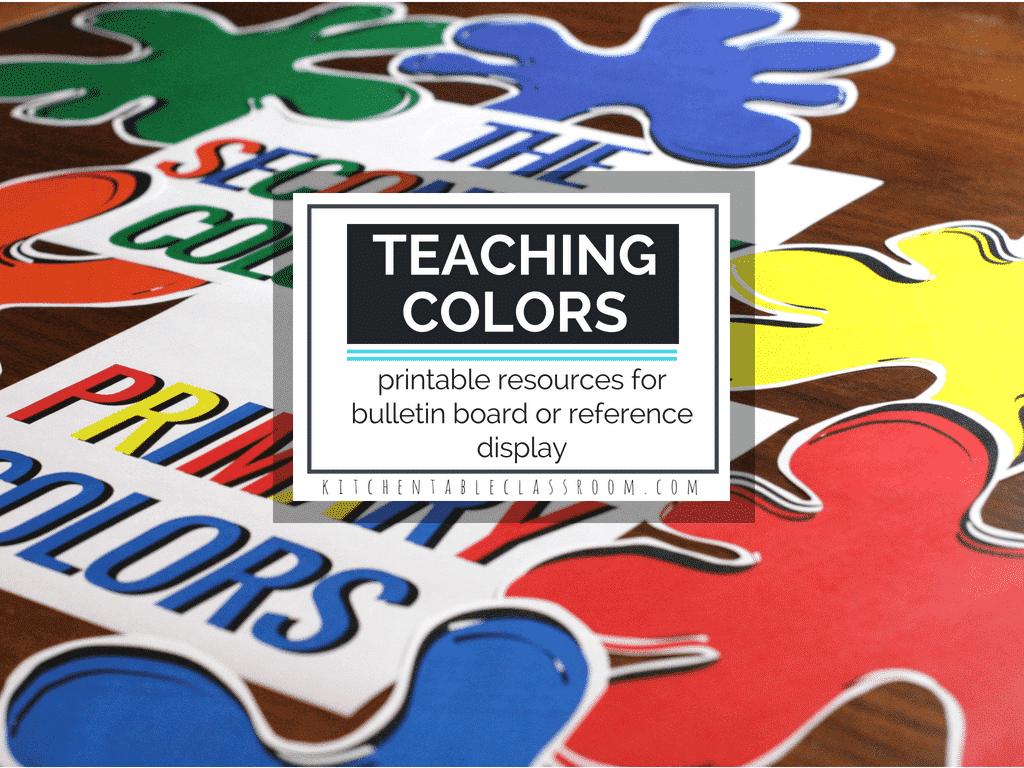 Teaching Colors- Free Printable Bulletin Board Display Resources ...
