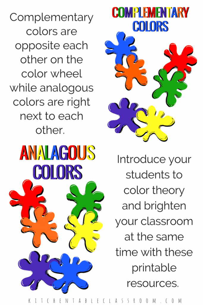 Teaching colors is one of the basic building blocks of art class.  Whether you're teaching big kids or little use these printables to create a quick & easy bulletin board or display!
