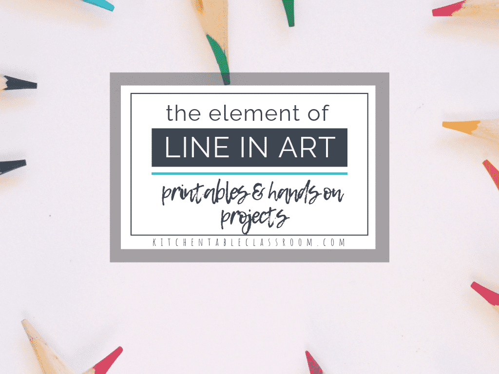 Teaching the element of line in art is a fun & easy way to start with the elements of art. Use these printable resources & hands on activities to start now!
