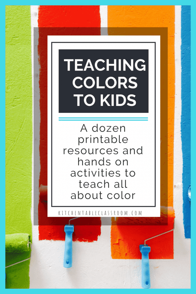 Teaching color in art is a basic of art class & early childhood education. These 12 color mixing activities and printables will making teaching about colors easy!