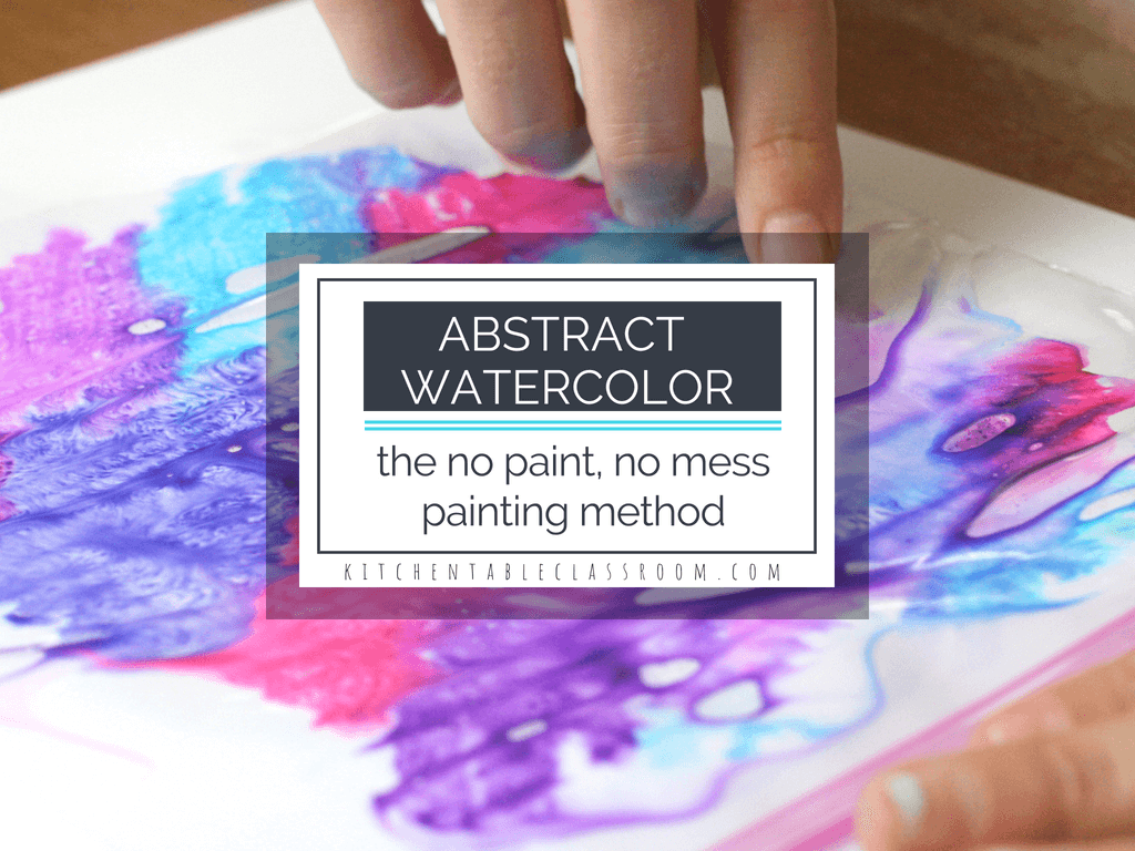 abstract watercolor painting easy abstract art for kids the