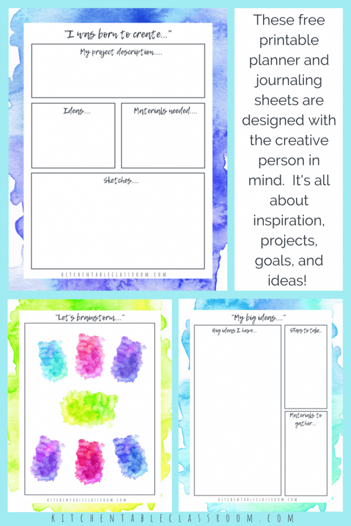 Personal Planner For Creatives 10 Gorgeous Pages Of Free Planner
