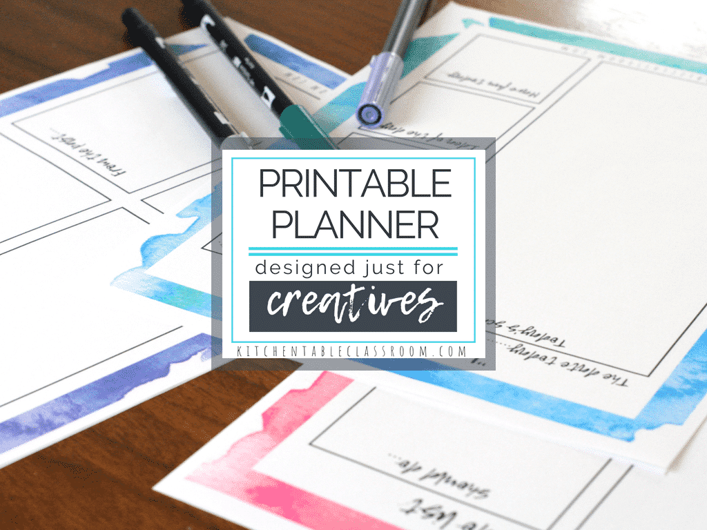 graphic regarding Free Personal Planner Printables named Particular person Planner for Creatives -10 Spectacular Internet pages of No cost