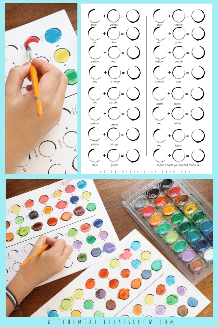 Color Mixing Chart Color Theory For Kids 2 The Kitchen Table Classroom