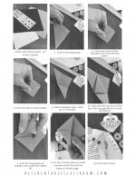 origami bookmark black and white
