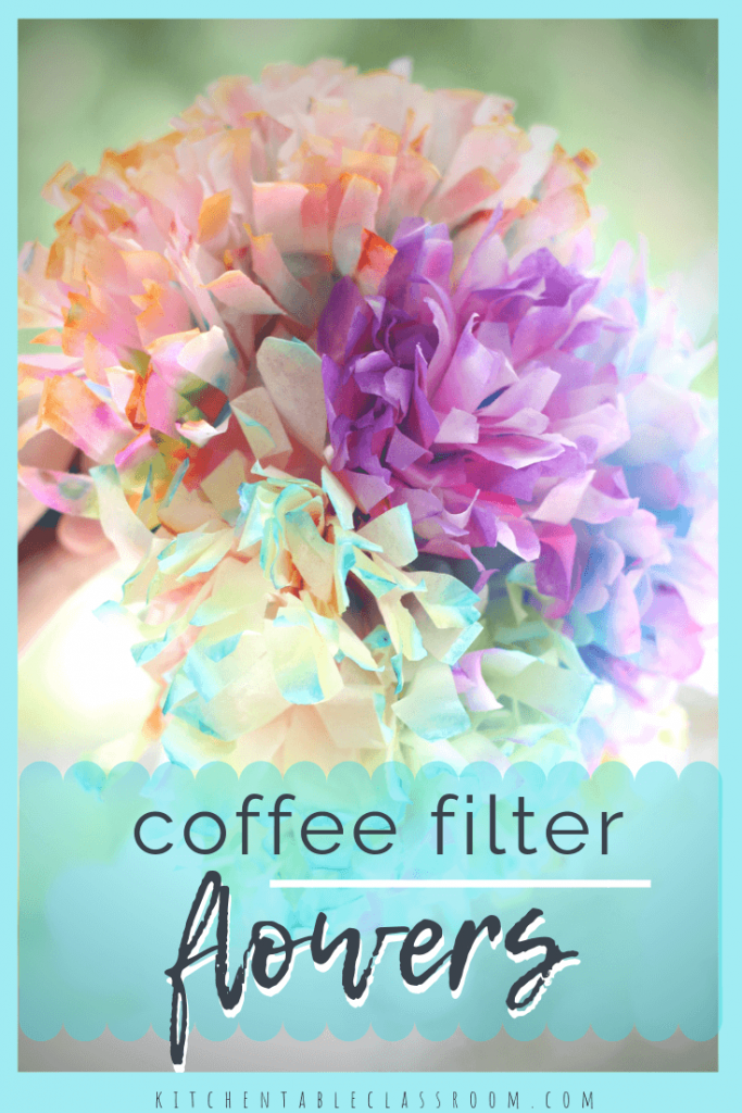 These coffee filter flowers are one of my favorite coffee filter crafts ever! Check out the easy process to make them plus nine other coffee filter crafts!