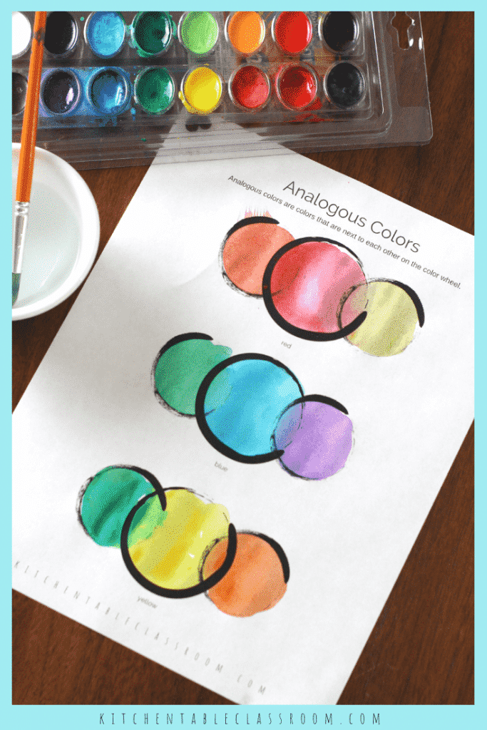 A color mixing chart for every occasion! Experiment with color mixing with primary colors, secondary colors, analogous, complements, values and more!