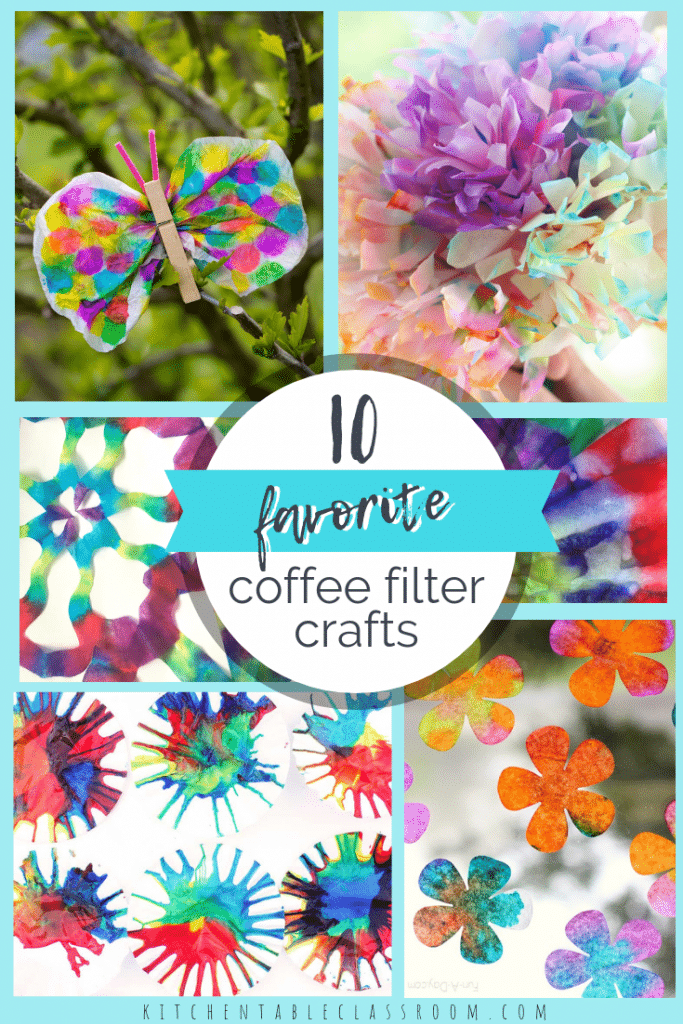 These ten easy coffee filter crafts for kids are adorable and you already have all the supplies you need! Easy!