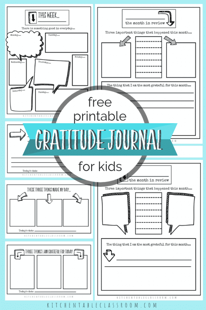 Use printable gratitude journal prompts to get in the habit of expressing written gratitude for the good every day! Gratitude journal templates make it easy