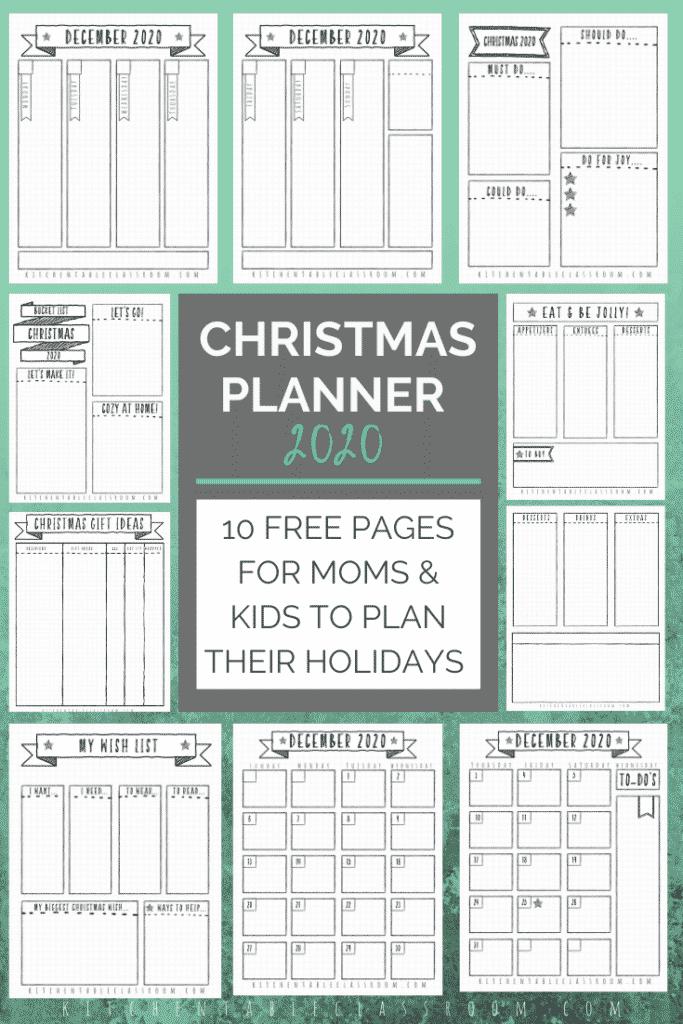 December 2020 bullet journal planner