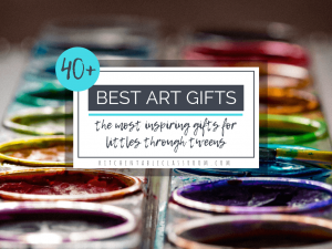 Check out 40 of the best art gifts for kids! From craft kits to art sets to open ended toys that inspire play.These gifts inspire creativity and innovation!