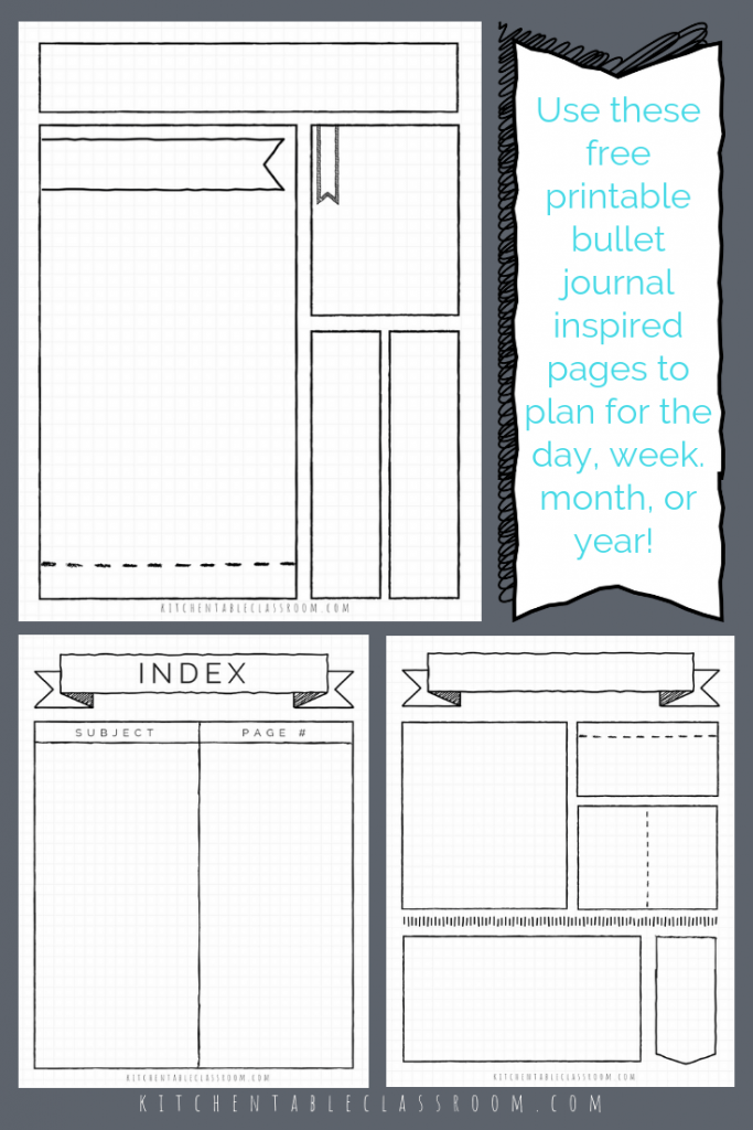 photo about Bullet Journal Key Printable identified as Bullet Magazine Printables-17 Totally free Bullet Magazine Templates