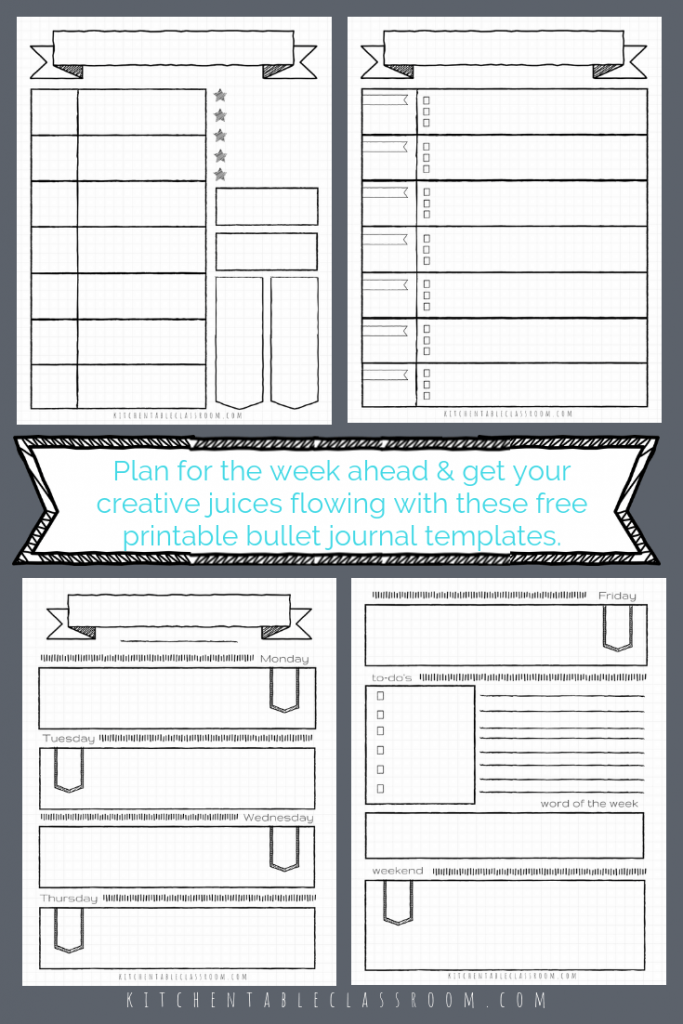graphic about Bullet Journal Weekly Spread Printable identify Bullet Magazine Printables-17 Totally free Bullet Magazine Templates