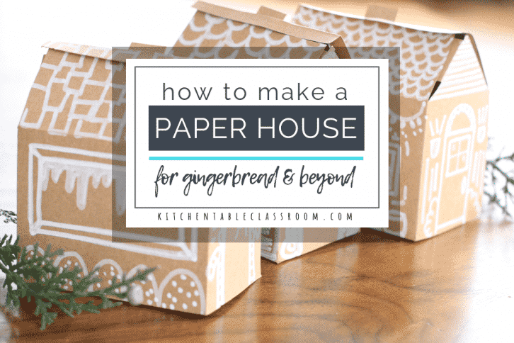 Learn how to make a paper house the easy way with this free printable house template. Print, cut, & fold to get a paper house that's ready for any details!