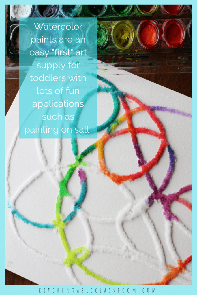 Painting for toddlers should be an open ended exploration. Find the best art tools, process art activities for toddlers, & setups to make art time a blast!