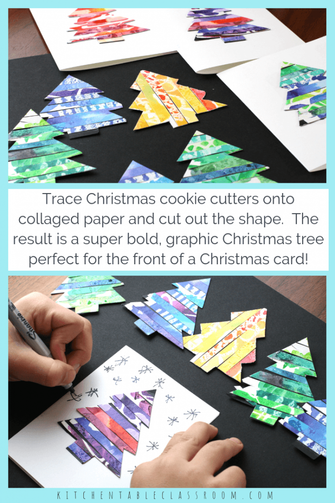Recycled Paper Christmas Trees - The Kitchen Table Classroom