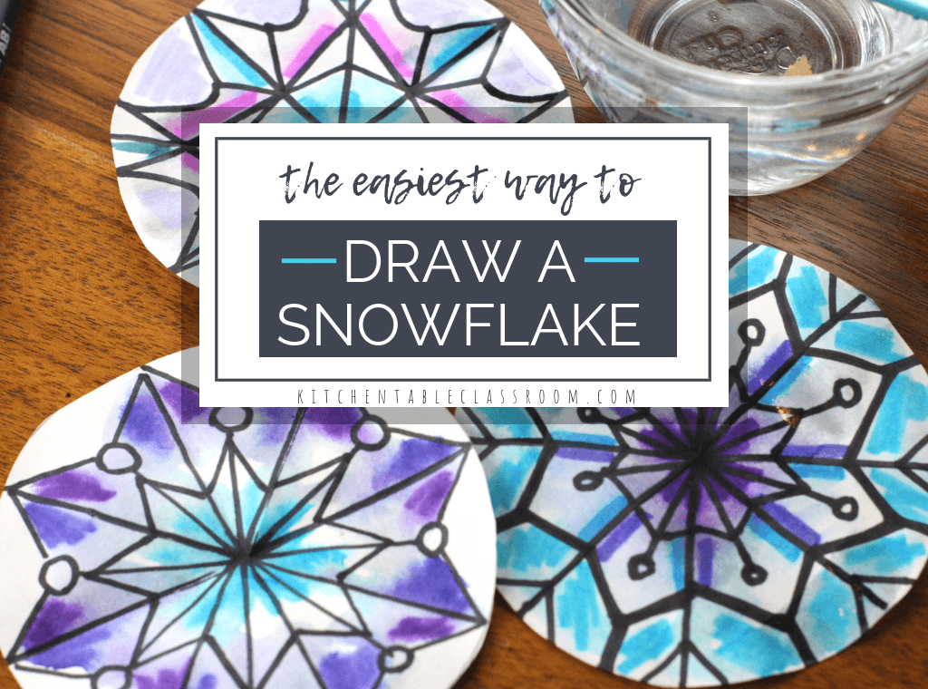 This step by step snowflake drawing tutorial will help you draw super intricate looking snowflakes one line at a time. A unique marker process adds color!
