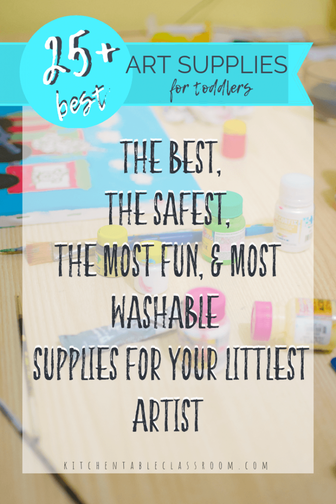 These toddler art supplies will give your littlest artist the most bang for your buck with creative ideas for creative play, art exploration, and fun!