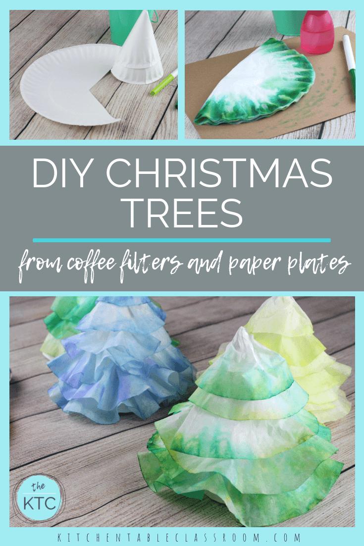 coffee filter christmas trees paper christmas tree christmas tree ...