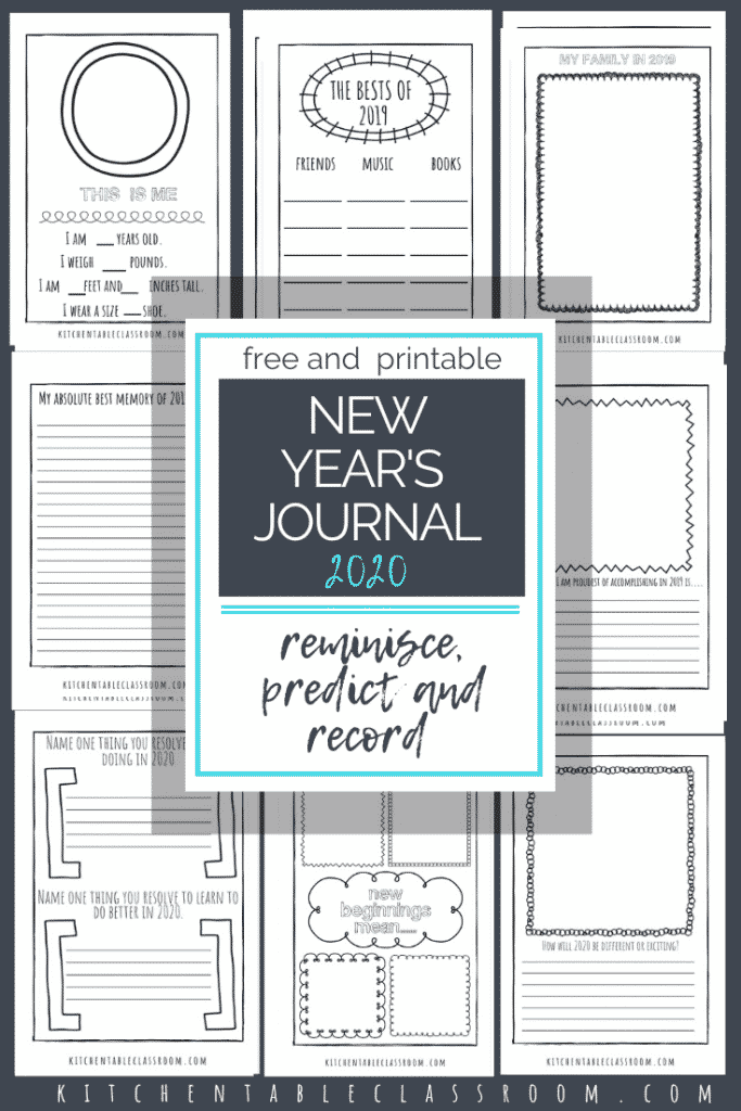 New Year's 2020 printables for kids