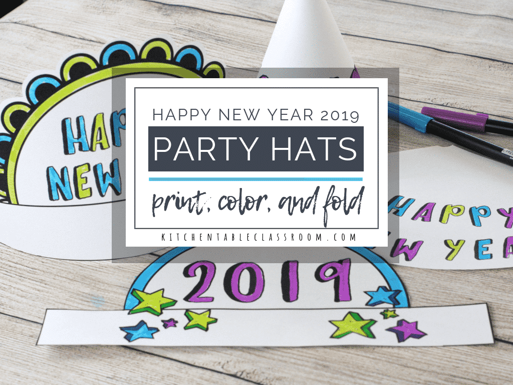 New Year S Eve Party Hats Easy New Year S Crafts For Kids The