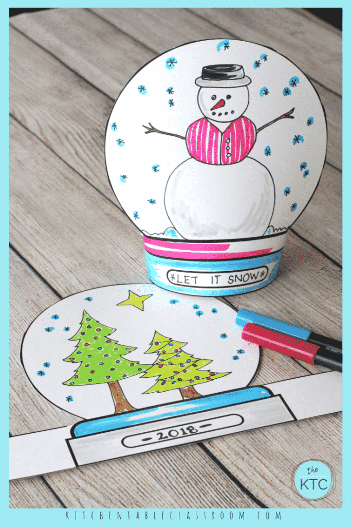 graphic about Printable Globes called Produce a Snowglobe- Print Attract Stand-up Template - The