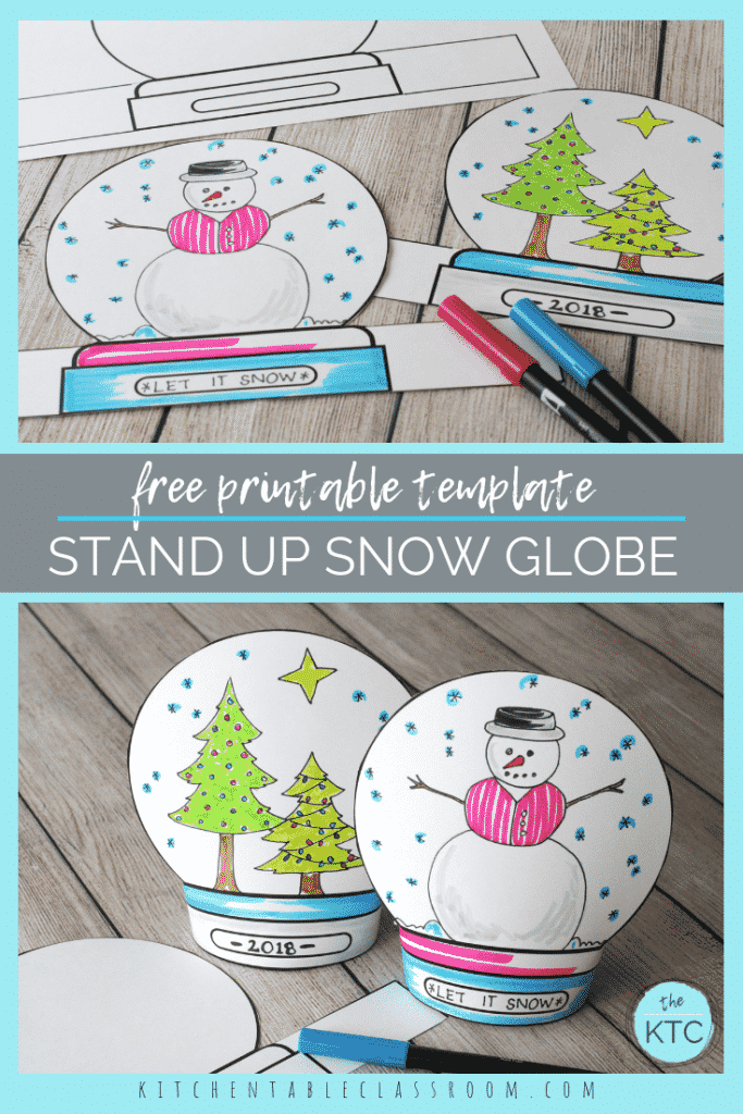graphic regarding Printable Globe known as Crank out a Snowglobe- Print Attract Stand-up Template - The