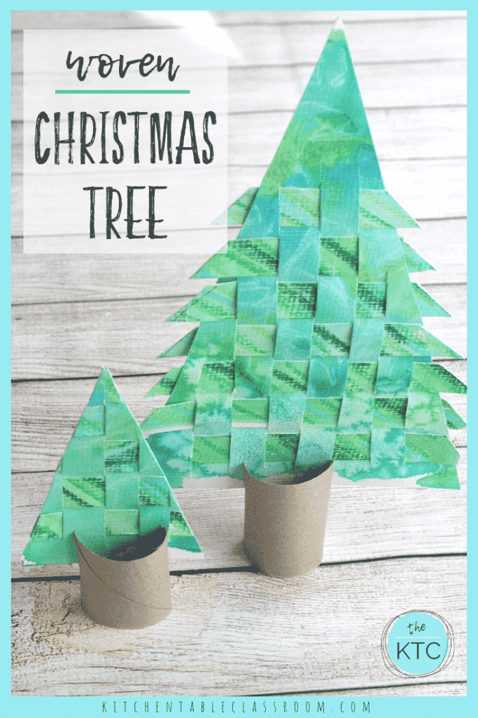 Use old recycled artwork to create this woven paper Christmas tree craft.  A great introduction to weaving as well as a Christmas craft that you'll keep!