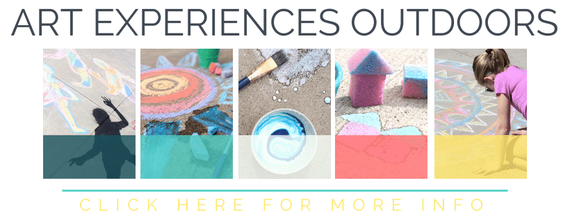 "Art Experiences Outdoors gives your family 25 ""big ideas"" for connecting art and play in the great outdoors!"